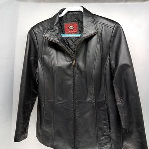 Marc Mattis Black Leather Coat size L